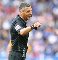 Referee Andre Marriner <br /> <br /> Photographer Stephen White/CameraSport<br /> <br /> The Premier League - Leicester City v Wolverhampton Wanderers - Sunday 11th August 2019 - King Power Stadium - Leicester<br /> <br /> World Copyright © 2019 CameraSport. All rights reserved. 43 Linden Ave. Countesthorpe. Leicester. England. LE8 5PG - Tel: +44 (0) 116 277 4147 - admin@camerasport.com - www.camerasport.com