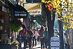 Port Townsend, Water Street, tourists historic Victorian town, Washington State, Pacific Northwest, USA,