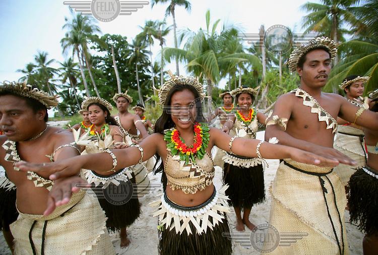 A traditional Kiribati dance.