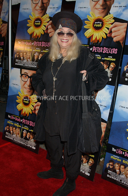 WWW.ACEPIXS.COM . . . . . ....NEW YORK, NOVEMBER 19, 2004....Sylvia Miles at the premiere of The Life and Death of Peter Sellers.....Please byline: ACE006 - ACE PICTURES.. . . . . . ..Ace Pictures, Inc:  ..Alecsey Boldeskul (646) 267-6913 ..Philip Vaughan (646) 769-0430..e-mail: info@acepixs.com..web: http://www.acepixs.com