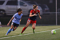 Piscataway, NJ - Saturday July 23, 2016: Taylor Lytle, Alyssa Kleiner during a regular season National Women's Soccer League (NWSL) match between Sky Blue FC and the Washington Spirit at Yurcak Field.