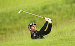 Bradley Dredge plays out of trouble on the 16th during the first round of the ISPS Handa Wales Open 2012....31.05.12.©Steve Pope