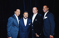 """05 October 2019 - Hamilton, Ontario, Canada.  The Miracles Revue featuring Mark Scott backstage at """"What A Night - Living Legends"""" at the FirstOntario Concert Hall.  Photo Credit: Brent Perniac/AdMedia"""