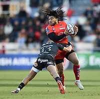 Ma'a Nonu of Toulon is tackled by Jonathan Joseph of Bath Rugby. European Rugby Champions Cup match, between RC Toulon and Bath Rugby on December 9, 2017 at the Stade Mayol in Toulon, France. Photo by: Patrick Khachfe / Onside Images