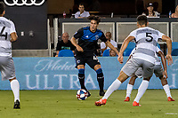 San Jose, CA - Tuesday June 11, 2019: Cade Cowell #44 in the US Open Cup match between the San Jose Earthquakes and Sacramento Republic FC at Avaya Stadium.