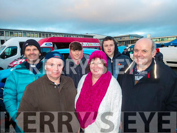 L-R David McCarthy, Edward Walsh, Jake McCarthy, Joan Keating, Loam Moylan with Tom McCarthy at the Historics rally in Killarney last Saturday.