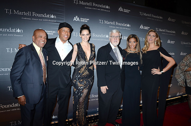 Berry Gordy, Russell Simmons and  Hana Nitsche, Tony Martell, Angela Simmons and Grace Potter attends The 37th Annual TJ Martell Foundation Honors Gala on October 23, 2012 at Cipriani 42nd Street in New York City. The foundation is for Leukemia, Cancer and AIDS Reserarch.