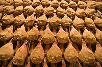 Europe/France/Auvergne/15/Cantal/Le Rouget : Roland Mas  dans son immense séchoir ou  se trouvent prés de 30000 jambons