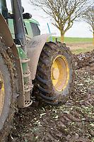 John Deere tractor front wheel