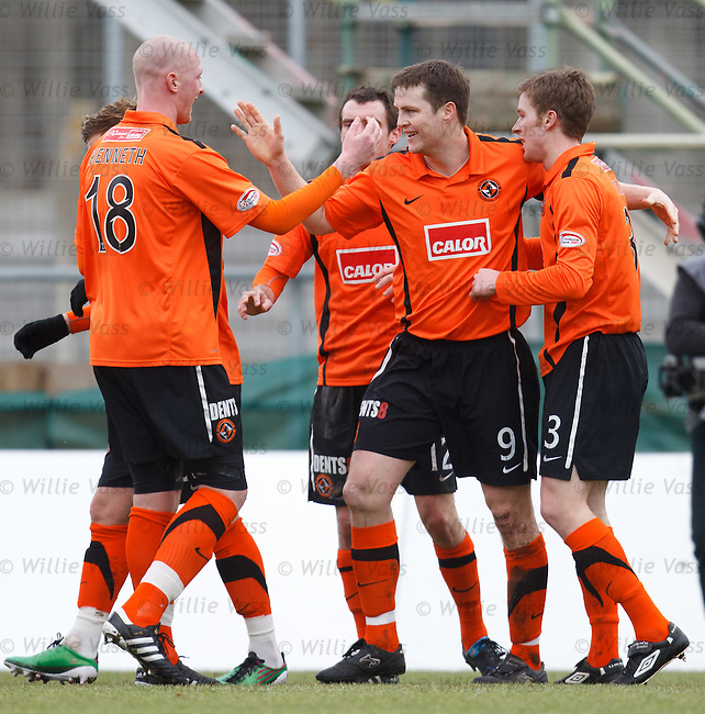 Jon Daly takes the plaudits for scoring the opening goal for Dundee Utd