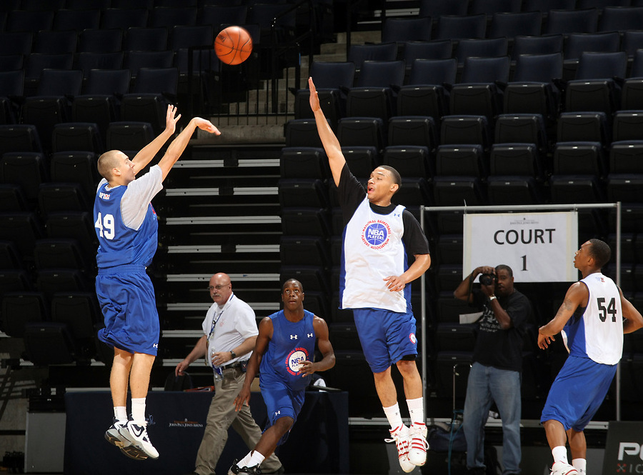 Chase Fisher at the NBPA Top100 camp June 18, 2010 at the John Paul Jones Arena in Charlottesville, VA. Visit www.nbpatop100.blogspot.com for more photos. (Photo © Andrew Shurtleff)