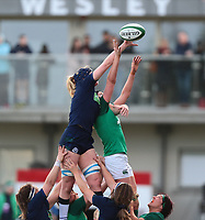 2nd February 2020; Energia Park, Dublin, Leinster, Ireland; International Womens Rugby, Six Nations, Ireland versus Scotland; Sarah Bonar (Scotland) and Aoife McDermott (Ireland) contest in the air for the lineout ball