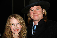 Montreal (Qc) CANADA - April 16 2009 - Exclusive Photo<br /> <br /> Celebrities<br /> Mia Farrow and Val Kilmer attend an private dinner during Montreal's 2009 Millenium Summit