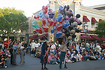 DISNEYLAND TEAM HOLDS BALLOONS. <br />