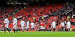 Wayne Rooney of Manchester United warms up wearing a different coloured top to the rest of the squad during the Premier League match at Old Trafford Stadium, Manchester. Picture date: September 24th, 2016. Pic Sportimage
