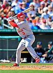 1 March 2009: St. Louis Cardinals' shortstop Khalil Greene at bat during a Spring Training game against the Florida Marlins at Roger Dean Stadium in Jupiter, Florida. The Cardinals outhit the Marlins 20-13 resulting in a 14-10 win for the Cards. Mandatory Photo Credit: Ed Wolfstein Photo