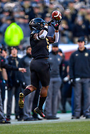 PHILADELPHIA, PA - DEC 8, 2018: Army Black Knights running back Kell Walker (5) brings in a fingertip catch during game between Army and Navy at Lincoln Financial Field in Philadelphia, PA. Army defeated Navy 17-10 to win the Commander in Chief Cup. (Photo by Phil Peters/Media Images International)
