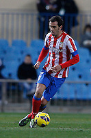 03.02.2013 SPAIN -  La Liga 12/13 Matchday 22th  match played between Atletico de Madrid vs Real Betis Balompie (1-0) at Vicente Calderon stadium. The picture show  Jorge Pulido Mayoral (Spanish midfielder of At. Madrid)
