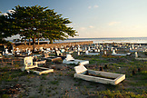 MAURITIUS, Surinam, the Souillac cemetary sits just at the edge of the Indian Ocean