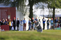 Luke Donald (ENG) plays his 2nd shot on the 17th hole during Thursday's Round 1 of the 2017 Omega European Masters held at Golf Club Crans-Sur-Sierre, Crans Montana, Switzerland. 7th September 2017.<br /> Picture: Eoin Clarke | Golffile<br /> <br /> <br /> All photos usage must carry mandatory copyright credit (&copy; Golffile | Eoin Clarke)