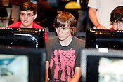 August 29, 2010. Raleigh, North Carolina.. Faces of amateur Halo 3 players as they compete.. Major League Gaming (MLG), the league for professional videogame players, held their 50th Pro Circuit competition at the Raleigh Convention Center, with gamers from all over the country coming to for 3 days of competition in Halo 3, Tekken 6, Super Smash Bros. Brawl, Starcraft 2 and World of Warcraft.