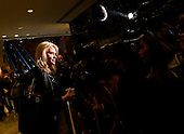 Senior adviser to United States President-elect Donald Trump, Kellyanne Conway speaks to journalists in the lobby of the Trump Tower, while Donald Trump is having meetings in the upper floors of the building, November 21, 2016, in New York, New York.<br /> Credit: Aude Guerrucci / Pool via CNP