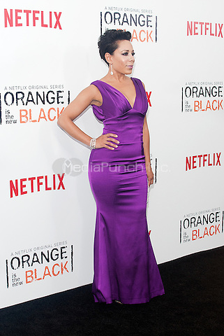 NEW YORK, NEW YORK - MAY 15, 2014:  Actress Selenis Leyva of Orange is the New Black' attend the Season 2 Premiere of 'Orange is the New Black' hosted by Netflix at The Ziegfeld Theater in New York, New York on Thursday May 15, 2014. Photo credit:RTNHargrove/MediaPunch
