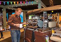 Rotterdam, The Netherlands, February 14, 2016,  ABNAMROWTT, Espresso Bar<br /> Photo: Tennisimages/Henk Koster