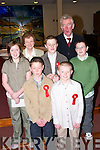 A great day for the  pupils of Killahan National School, Abbeydorney, on Wednesday after they were confirmed by Bishop Bill Murphy at St Bernards Church, Abbeydorney. Pupils: Barry Horgan, Aaron Conway, Sean Harrington, John Shanahan and Shanaugh Cunningham, with Teachers Gerard Doyle and Maura Moloney..