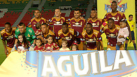 IBAGUÉ -COLOMBIA, 12-01-2006. Jugadores del Deportes Tolima posan para una foto previo al encuentro con Independiente Medellín por la fecha 15 de la Liga Aguila I 2016 jugado en el estadio Manuel Murillo Toro de la ciudad de Ibagué./ Players of Deportes Tolima pose to a photo prior a match against Independiente Medellin for the date 15 of the Aguila League I 2016 played at Manuel Murillo Toro stadium in Ibague city. Photo: VizzorImage / Juan Carlos Escobar / Str