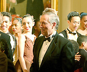 Washington, D.C. - February 6, 2006 -- Governor George Pataki (Republican of New York) greets members of the Dance Theatre of Harlem who performed at the White House in Washington, D.C. on February 6, 2006.  <br /> Credit: Ron Sachs / CNP