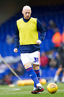 James Collins of Ipswich Town signed a loan deal warms up before Ipswich Town vs Rotherham United, Sky Bet EFL Championship Football at Portman Road on 12th January 2019