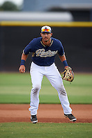 San Diego Padres Kodie Tidwell (18) during practice before an instructional league game against the Milwaukee Brewers on October 6, 2015 at the Peoria Sports Complex in Peoria, Arizona.  (Mike Janes/Four Seam Images)