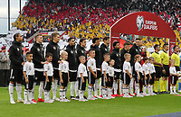Deutsche Mannschaft stellt sich auf - 11.06.2019: Deutschland vs. Estland, OPEL Arena Mainz, EM-Qualifikation DISCLAIMER: DFB regulations prohibit any use of photographs as image sequences and/or quasi-video.