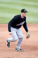 May 30, 2009:  Third Baseman Jared Goedert of the Akron Aeros during a game at Jerry Uht Park in Erie, PA.  The Aeros are the Double-A Eastern League affiliate of the Cleveland Indians.  Photo By Mike Janes/Four Seam Images