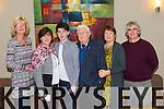 Karen Sugg, Angela Shanahan, John McCorhan, Liam Shanahan, Juliette McCrohan P.J. McCrohan Ardfert at the Brendan Grace Concert at Ballyroe Heights Hotel on Sunday