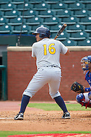 Alejandro Segovia (16) of the Montgomery Biscuits at bat against the Chattanooga Lookouts at AT&T Field on July 23, 2014 in Chattanooga, Tennessee.  The Lookouts defeated the Biscuits 6-5. (Brian Westerholt/Four Seam Images)