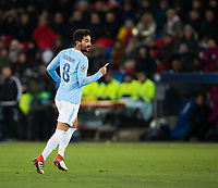 Manchester City's Ilkay Gundogan celebrates scoring his side's fourth goal <br /> <br /> Photographer Craig Mercer/CameraSport<br /> <br /> UEFA Champions League Round of 16 First Leg - Basel v Manchester City - Tuesday 13th February 2018 - St Jakob-Park - Basel<br />  <br /> World Copyright &copy; 2018 CameraSport. All rights reserved. 43 Linden Ave. Countesthorpe. Leicester. England. LE8 5PG - Tel: +44 (0) 116 277 4147 - admin@camerasport.com - www.camerasport.com