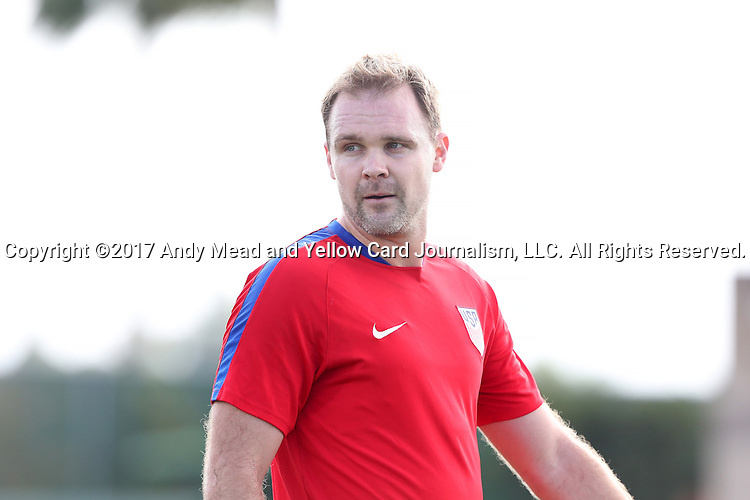 11 January 2017: Chad Marshall. The United States Men's National Team held their first training session under new head coach Bruce Arena on The Murphy Family Field at the StubHub Center in Carson, California.
