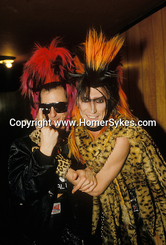 Tony James front man and lead singer of Sigue Sigue Sputnik with Martin Degville. Punk band 1980s  Newcastle Upon Tyne. UK