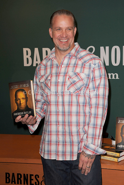 WWW.ACEPIXS.COM . . . . . .May 5, 2011...New York City...Jesse James signs copies of  'American Outlaw' at Barnes & Noble, 5th Avenue on May 5, 2011 in New York City....Please byline: KRISTIN CALLAHAN - ACEPIXS.COM.. . . . . . ..Ace Pictures, Inc: ..tel: (212) 243 8787 or (646) 769 0430..e-mail: info@acepixs.com..web: http://www.acepixs.com .