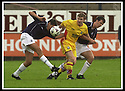 05/08/2001          Collect Pic : James Stewart .Ref : DSC_4821                          .File Name : stewart09-falkirk v ayr utd.FALKIRK'S LEE MAIR AND KEVIN CHRISTIE SQUEEZE OUT AYR'S JAMES GRADY....James Stewart Photo Agency, Stewart House, Stewart Road, Falkirk. FK2 7AS      Vat Reg No. 607 6932 25.Office : +44 (0)1324 630007     Mobile : + 44 (0)7721 416997.Fax     :  +44 (0)1324 630007.E-mail : jim@jspa.co.uk.If you require further information then contact Jim Stewart on any of the numbers above.........