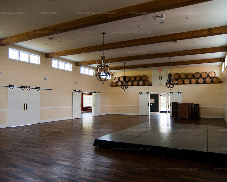 The event hall at King Family Vineyards is a huge space, with room for the party to organize as they see fit, including a bandstand and dancing.