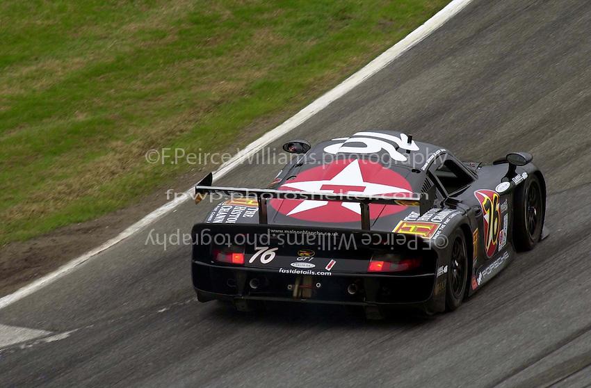 The #76 GT1 Porsche of Paul Newman. The cars number was choosen to match Newman's age. .39th Rolex 24 at Daytona, 3/4 February,2001 Daytona International Speedway  Daytona Beach,Florida,USA.©F.Peirce Williams 2001 ..