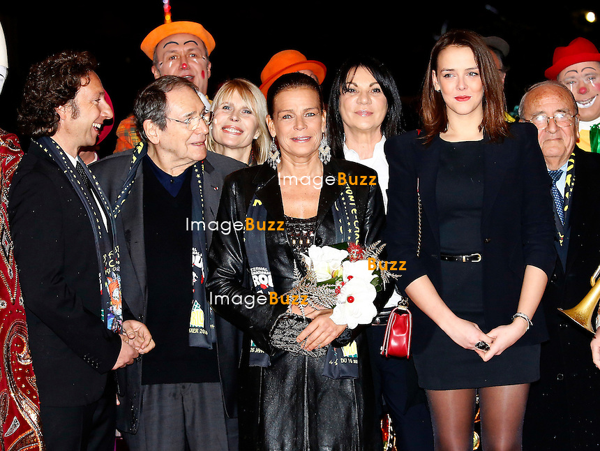 Princess Stephanie of Monaco and her daughter Pauline Ducruet .attend the 3rd day of the 38th Monte-Carlo Circus Festival, with St&eacute;phane Bern and Robert Hossein.<br /> Monaco, January 18, 2014.
