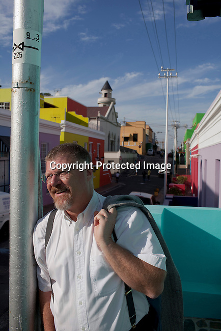 CAPE TOWN, SOUTH AFRICA - MARCH 14: The author Deon Meyer stands for a portrait in the Bo-Kaap area on March 14, 2012 in Cape Town, South Africa. (Photo by Per-Anders Pettersson)