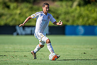 Carson, CA - July 14, 2016: The LA Galaxy U-15/16s defeated Real Colorado U-15/16 3-0 in a 2016 U.S. Soccer Development Academy Semi Final game at StubHub Center.
