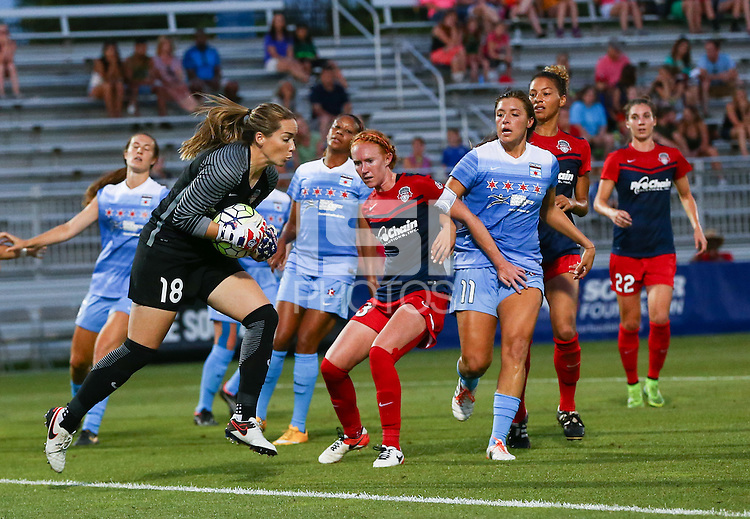 Boyds, MD - Saturday July 09, 2016: Kelsey Wys during a regular season National Women's Soccer League (NWSL) match between the Washington Spirit and the Chicago Red Stars at Maureen Hendricks Field, Maryland SoccerPlex.