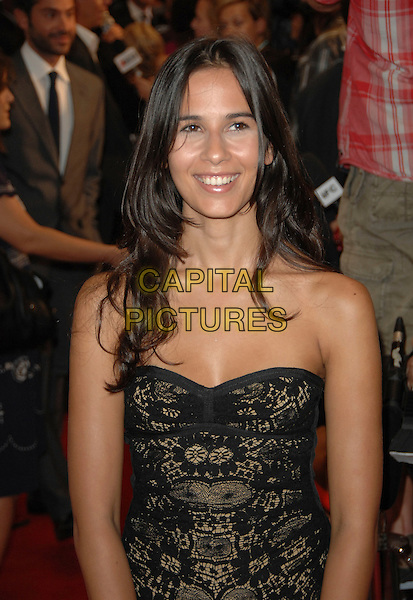 """ZINEB OUKACH.""""Rendition"""" Premiere during the 32nd Annual Toronto International Film Festival held at Roy Thompson Hall, Toronto, Ontario, Canada, 07 September 2007. .half length srrapless black and gold lace dress.CAP/TL.©Tony Lee/Capital Pictures."""