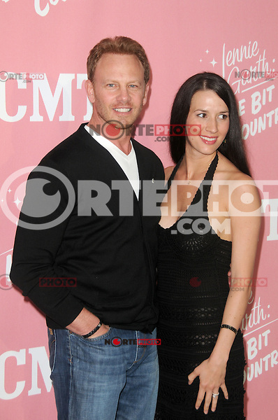 Ian Ziering and Erin Kristine Ludwig at Jennie Garth's 40th birthday celebration and premiere party for 'Jennie Garth: A Little Bit Country' at The London Hotel on April 19, 2012 in West Hollywood, California Credit: mpi35/MediaPunch Inc.